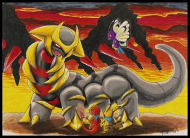 Giratina Boss Fight by Ama-Encyclopika