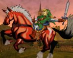 Link and Epona colored by MrsTownsend