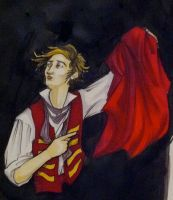 Enjolras- Red and Black by That-Poor-Tyrant
