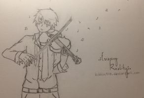 Inspired Violinist by Kibbles518