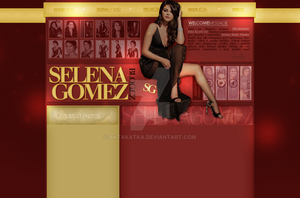 Layout with Selena Gomez by aktakatka