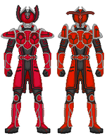 Kamen Rider Boss and Break by heavenlymythicranger
