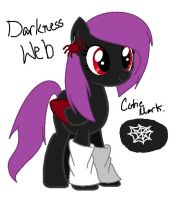 MLP Adoptable - Darkness Web (CLOSED) by kaitolova