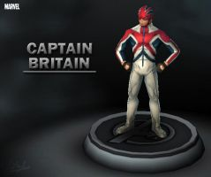 Marvel - Captain Britain by davislim