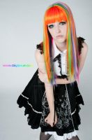GLW Rainbow Wig 1 by AmaraVonNacht