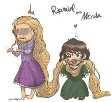 Fili!Rapunzel and Kili!Merida by AlyTheKitten