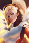 Overwatch: Mercy by raikoart
