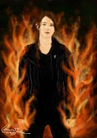 The Girl On Fire - Katniss Everdeen by LauraJaneArnold