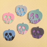 Poison Apple Resin Cabochons by kittywithacupcake