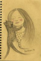 Me and my cat by FiabeSCa