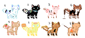 OTA Food Themed Cat Adopts by Guswls