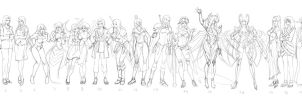 Guess anime characters ^^ by Precia-T