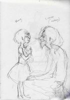 [wip] AT: young Marcy x Simon Petrikov (Ice King) by RenFenRen