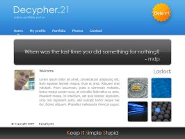 web 2.0 personal website by decypher21