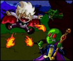Battle of the Pint-Sized Dracula Offspring by mightyfilm