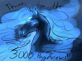 3000+ Page Views!! by Cameos-Equine
