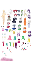 Tokyo mew mew dress up for MS paint by Jumbreon
