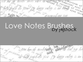 Love Notes Brushes by j4jstock