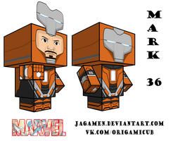 Iron Man Mark 36 Cubeecraft 3D-model by JagaMen