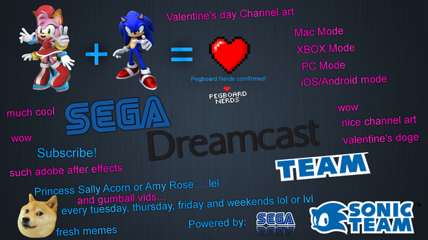 Sega Dreamcast Team Youtube Channel Art by tawogfan