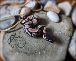 Royal ball python pendant by NadilynBeato
