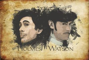 Holmes and Watson by Pulvis