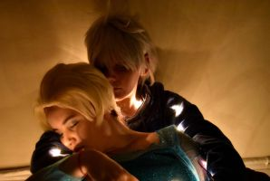the lights are on Jack and Elsa by RoXas13BearerOfTwo