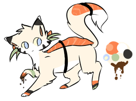 Sushi cat Draw to Adopt (CLOSED) by DontStealMyPie