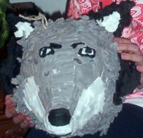 Wolfy pinata made in 7th grade by wolf-petal