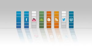 Free Social Media Buttons by WisdomX