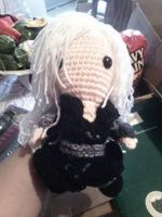 sephiroth sack boy doll by Artsuberry
