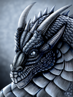 Steel Dragon Portrait by DragonosX