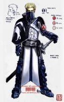Blacksash Knight Marius by wredwrat