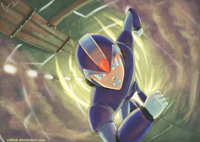 Megaman x Fan art by Calbak