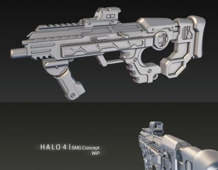 HALO 4 SMG Concept wip 2 by ImBrokeRU