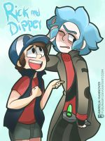 Rick n Morty.- Rick and Dipper by yusunaby