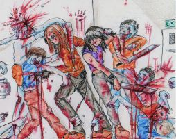 Zombie attack for my boyfriend by JL010203