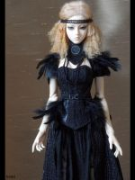 Jeline - black feathers 2 by Lelahel-Clothes