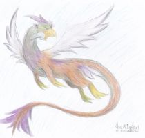 Flying Bird-dragon by MicoNutziri