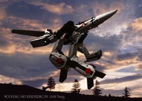 Robotech Macross in 3D Gerwalk by jedizebi