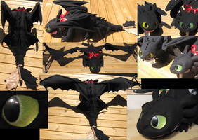 Toothless 5ft Plush take two by Monoyasha