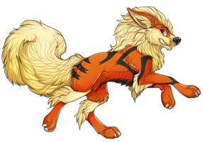 Arcanine commission by nightspiritwing