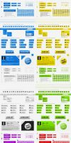 Web kit interface layout pack by Giallo86