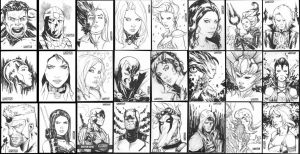 FCBD sketch cards 2016 by Arciah