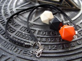 Blank dice necklace by kickthebucket