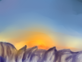 Sunset in the Mountains by MetalPenguino