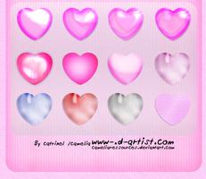 Pink photoshop layer styles 4 by cameliaRessources