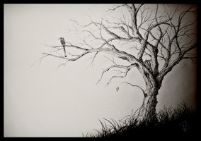 The Last Leaf on a Dying Tree by SimonVelazquezArt