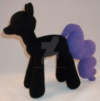 Crochet Nightmare Moon WIP by ImNuckingFuttsToni