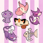 Pokekittens by drawnbydana